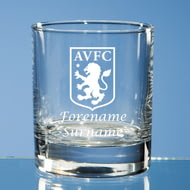 Personalised Aston Villa FC Crest Whisky Glass
