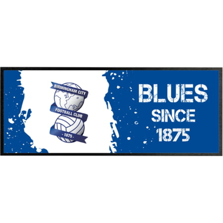 Personalised Birmingham City Paint Splash Regular Bar Runner