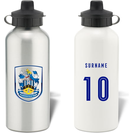 Personalised Huddersfield Town AFC Retro Shirt Aluminium Sports Water Bottle