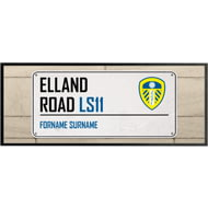 Personalised Leeds United FC Street Sign Regular Bar Runner