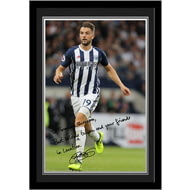 Personalised West Bromwich Albion FC Rodriguez Autograph Photo Framed