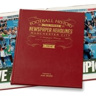 Personalised Manchester City Football Newspaper Book - Leather Cover