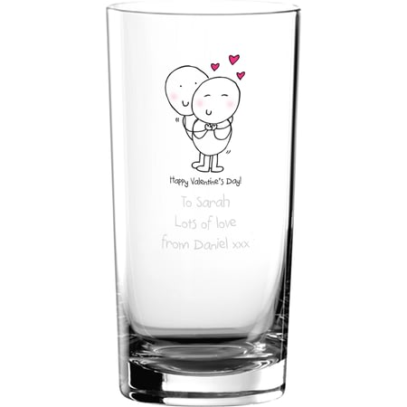 Personalised Chilli & Bubble's Valentines Hi Ball Glass