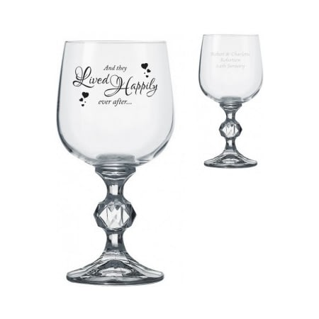 Personalised Happily Ever After Claudia Wine Glass