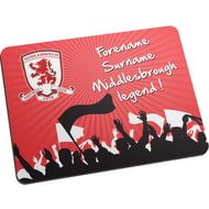 Personalised Middlesbrough FC Legend Mouse Mat