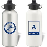 Personalised Millwall FC Monogram Aluminium Water Bottle
