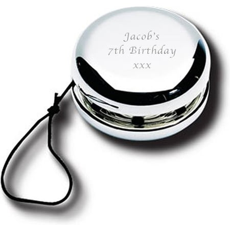 Personalised Engraved Silver Plated Yo-Yo