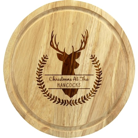 Personalised Stag Cheeseboard With Knives