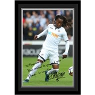 Personalised Swansea City AFC Sanches Autograph Photo Framed