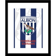Personalised West Bromwich Albion FC Bold Crest Framed Print