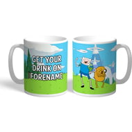 Personalised Adventure Time Drink On Mug
