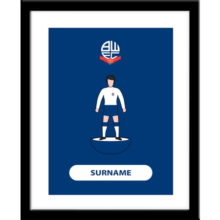 Personalised Bolton Wanderers Player Figure Framed Print