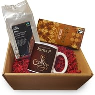 Personalised Coffee Hampers - Bean Ceramic Mug