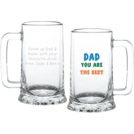 Personalised Dad You Are…Glass Stern Tankard