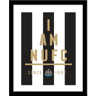 Personalised Newcastle United I Am Framed Print