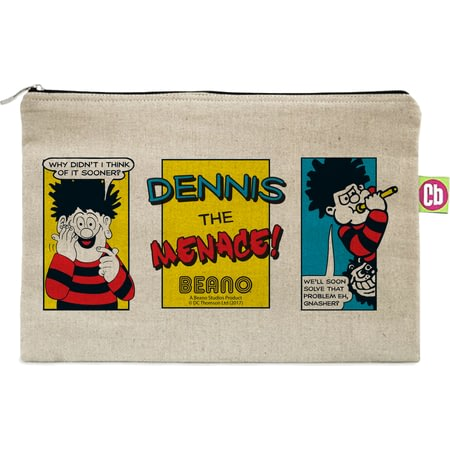 Personalised Beano Classic Comic Strip Problem Solved Canvas Pencil Case