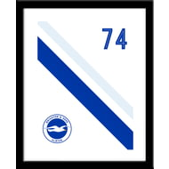 Personalised Brighton & Hove Albion FC Stripe Framed Print