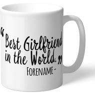 Personalised Derby County Best Girlfriend In The World Mug