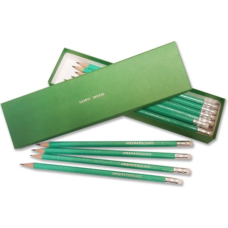 Personalised #MERMAIDSQUAD Pencil Set