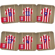 Personalised Stoke City FC Dressing Room Shirts Coasters
