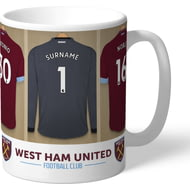 Personalised West Ham United FC Goalkeeper Dressing Room Shirts Mug