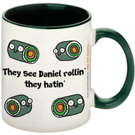 Personalised They Hatin' Dark Green Inside Mug