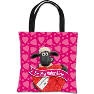 Personalised Shaun The Sheep Valentines 'Be My Valentine' Tote Bag