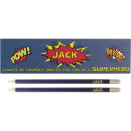 Personalised Always Be A Superhero Pencil Box & Pencils