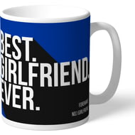 Personalised Brighton & Hove Albion FC Best Girlfriend Ever Mug