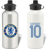 Personalised Chelsea FC Retro Shirt Water Bottle