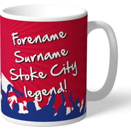 Personalised Stoke City FC Legend Mug