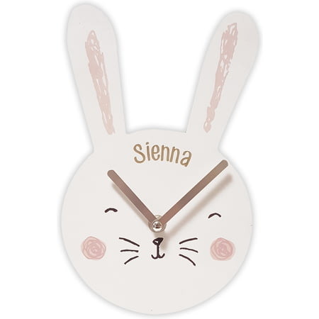 Personalised Bunny Clock