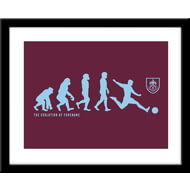 Personalised Burnley FC Evolution Framed Print