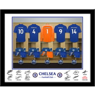 Personalised Chelsea FC Goalkeeper Dressing Room Shirts Framed Print