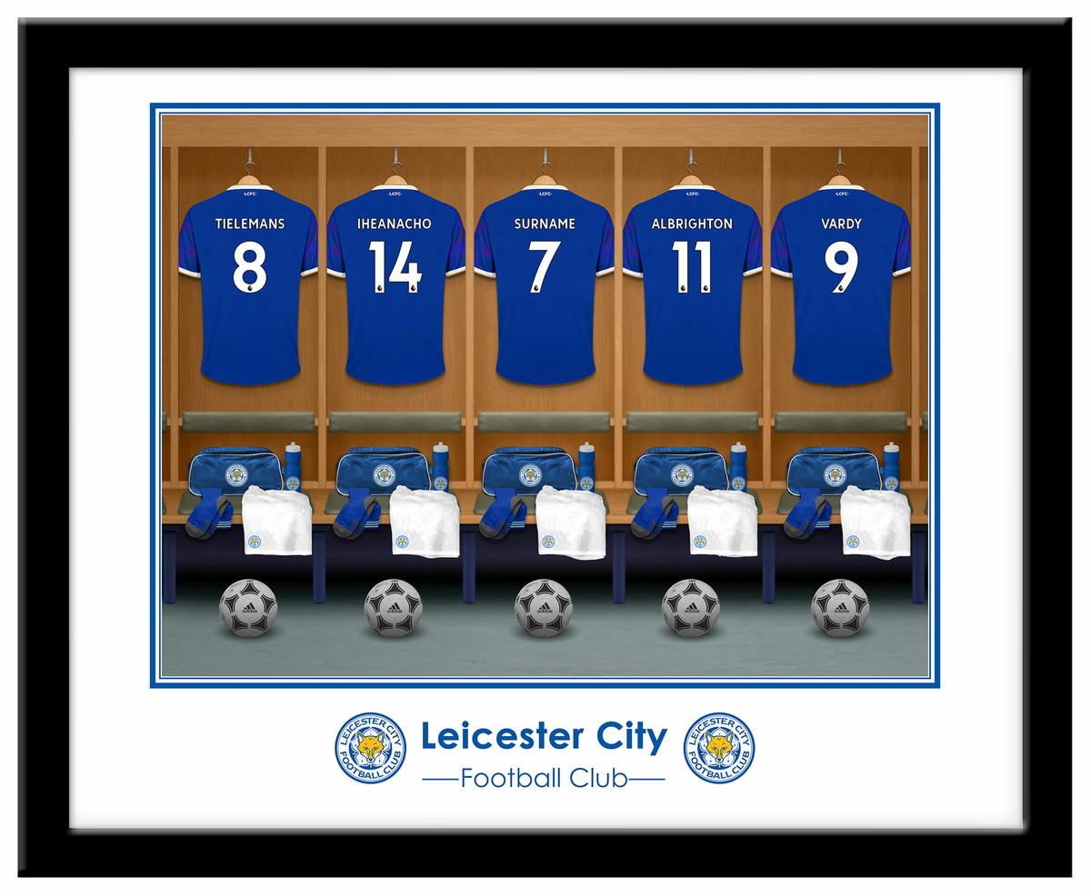 🎁Buy your Personalised Leicester City FC Dressing Room Shirts ... a37606beb