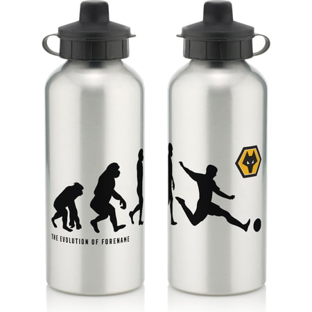 Personalised Wolves FC Player Evolution Aluminium Sports Water Bottle