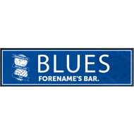 Personalised Birmingham City Crest Large Rubber Bar Runner