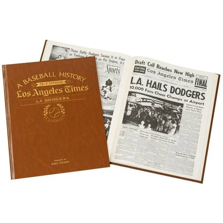Personalised La Dodgers Baseball Newspaper Book