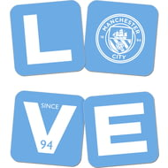Personalised Manchester City FC Love Coasters (x4)