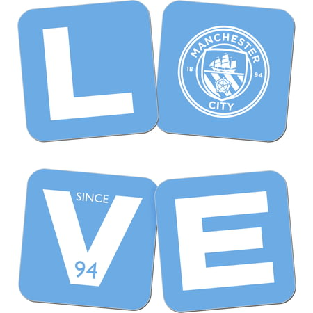 Personalised Manchester City Love Coasters (x4)