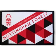 Personalised Nottingham Forest FC Patterned Rubber Backed Door Mat
