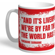 Personalised Liverpool FC Fan Chant Mug