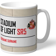 Personalised Sunderland AFC Street Sign Mug