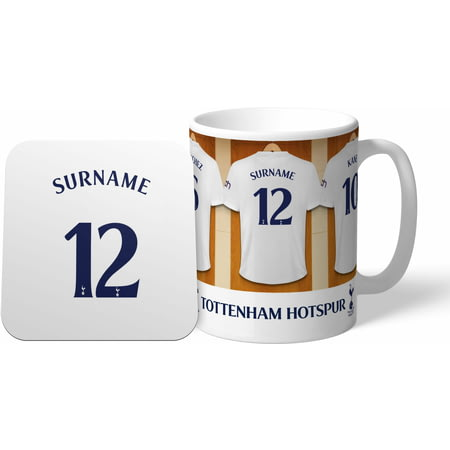 Personalised Tottenham Hotspur FC Dressing Room Shirts Mug & Coaster Set