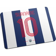 Personalised West Bromwich Albion FC Retro Shirt Mouse Mat