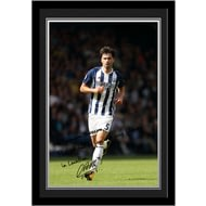 Personalised West Bromwich Albion FC Yacob Autograph Photo Framed