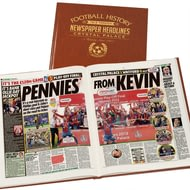 Personalised Crystal Palace Football Newspaper Book - Leatherette Cover
