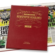 Personalised Notts County Football Newspaper Book - Leather Cover