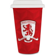 Personalised Middlesbrough FC Crest 350ml Reusable Tea / Coffee Cup with Lid