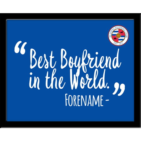 Personalised Reading Best Boyfriend In The World 10x8 Photo Framed